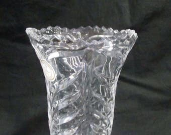 Crystal Clear Vase made in Germany 24% lead crystal
