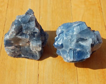 Rough Blue Calcite Crystal Cluster