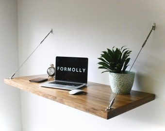 Wall Hanging Desk floating desk wall mounted desk walnut