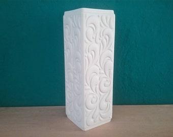 Large Hutschenreuther vase ... bisque porcelain ... white