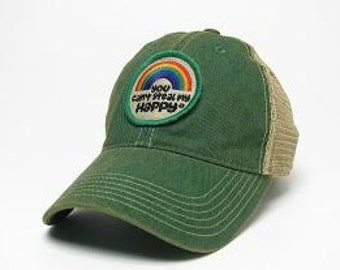 You Can't Steal My Happy Retro Rainbow Trucker Hat