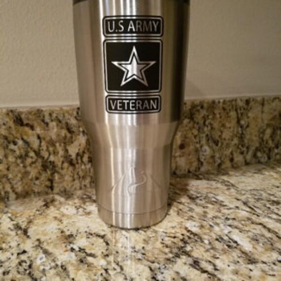 us army yeti decal, Army yeti Decal Sticker, Army Veteran, Veteran Army, army decal, army cup, boot camp graduation, cup decals, ozark decal