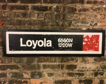 Loyola Red Line Stop, Chicago Red Line, Rogers Park, Chicago Transit System, Train Art, Street Art, Vintage Signs, Uptown, CTA, Urban
