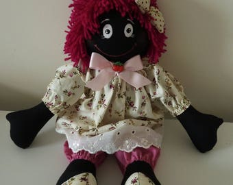 Morena handmade rag doll - personalised embroidered message available