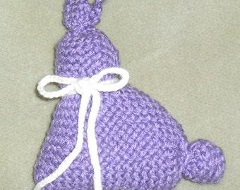 Woven Purple Bunny, stuffed bunny, Easter toy