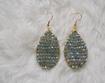 Lisa Earrings in Light Blue