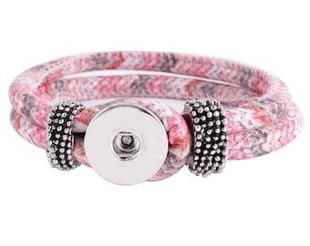 KC0206 ~ New Textile Multi-Colored 22cm Bracelet ~ Pretty!