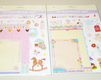 Lot of 2 Miss Elizabeth's Theme Scrapbook Sets - Happy Birthday & Baby - NIP