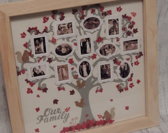 Photo Tree frames Family Tree Gifts Photo Gifts Shadow Box Frames