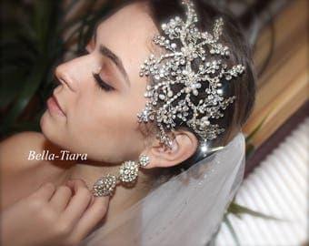SPECIAL, bridal hair clip, pearl bridal headpiece, wedding hair clip, side wedding vine, bridal hair vine, wedding pearl comb