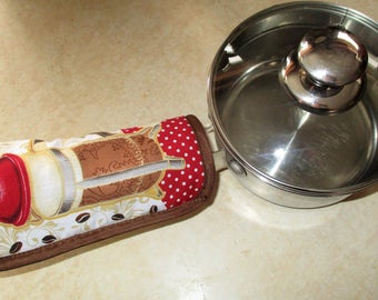 Pot Pan Cast Iron Stainless Steel Bakelite  Handle Holder Mit Mitt Sock Larger Opening several colors available