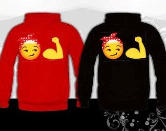 Rosie Riveter Emoji Sweatshirt