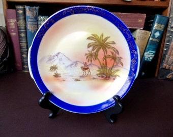 Early 20th c Display/Cabinet Plate Victoria Porcelain Platter Desert Scene