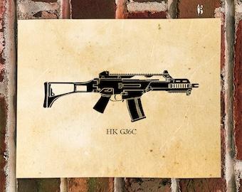 KillerBeeMoto: Limited Print HK G36C Battle Rifle Print