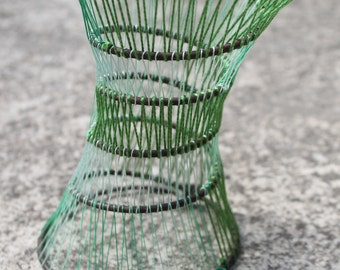 Spring into new life, green - Up-cycled chair spring sculptural work