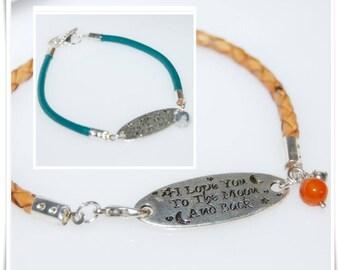 Leather Bracelet leather nappa leather bracelet nappa bracelet jewelry