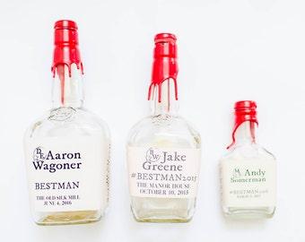 Completely Custom Liquor Label - Maker's Mark Bottle