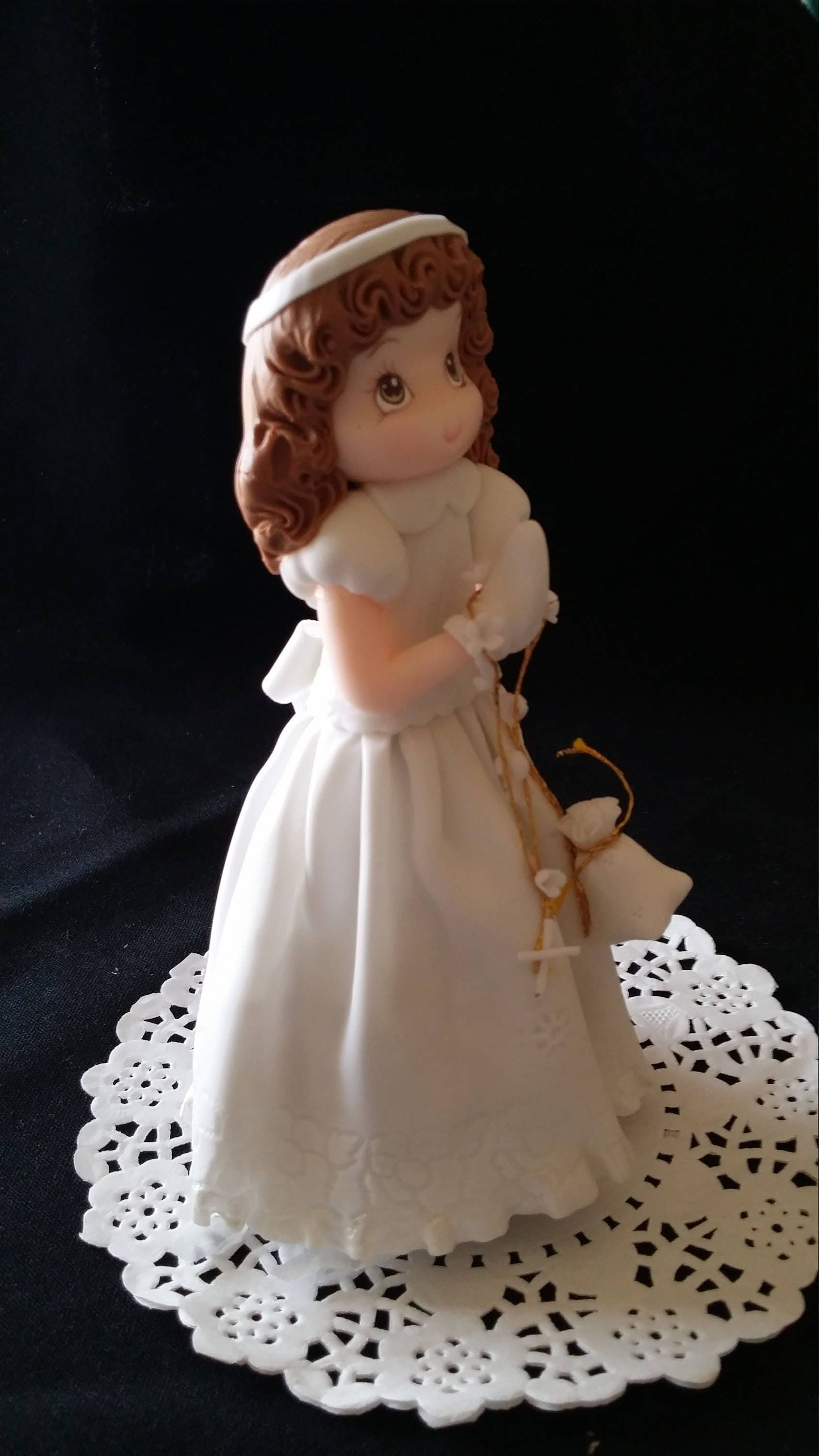 First Communion Cake Topper Baptism Cake Topper Baptism Girl