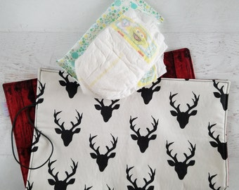 Portable Changing Pad | Diaper Changing Pad | Baby Changing Pad | Travel Changing Pad | Changing Mat | Woodland Baby  Shower Gift