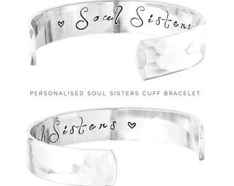 Friends Gift | Soul Sisters Jewelry | Friendship Gift | Womens gift  | Gifts for Her | Soul Sisters | Personalized Jewelry By Glam (C010)