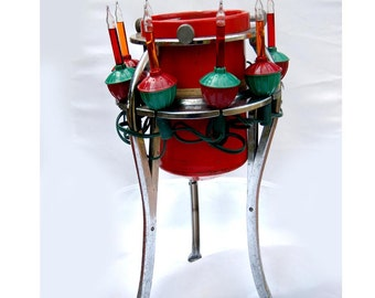 vintage christmas tree stand tree stand with bubble lights vintage christmas retro christmas - Tree Stand Christmas