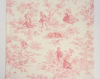 Pink Table Runner, Toile Table Runner, Floral Table Runner