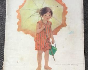 August 1925 good housekeeping magazine Jessie Wielcox Smith antique ads fashion