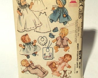 Vintage Early 1960s UNCUT McCall's 6214 Infant 15 piece Layette Pattern