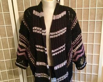 Vintage Calypso 1990s Sweater Kimono Stlye