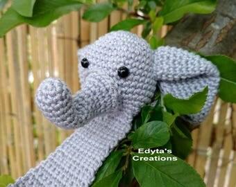 Crochet elephant bookmark - end of school, teacher gift