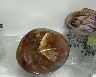Red Fire Quartz Palm Stone - The Stone for Energy and Vitality