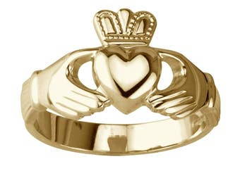 Original Claddagh Ring 9 K Gold