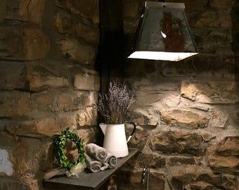 Rustic Industrial Galvanized Light - Galvanized Pendant Light w/Bulbs  #L4017
