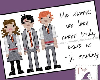 Harry Potter Parody - Stories We Love JK Rowling quote cross stitch - PDF Pattern - Instant Download