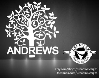 Family Tree Vinyl | Family Tree Decal |  Vinyl | Car Decal | Sticker
