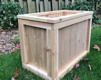 Patio planter/Outdoor planter/Outdoor storage/Pool storage box/Cedar planter box/Planter/Wood planter/Cedar box/Outdoor wood planter