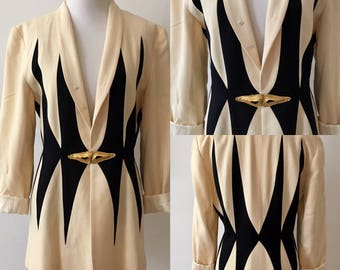 M/L 1980s Art Deco Blazer