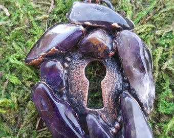Amethyst Keyhole Necklace