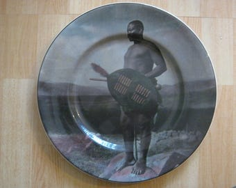 "Vintage Royal Doulton ""African Series,Zulu Warrior"" Decorative Plate D6364"