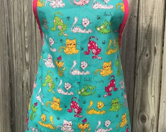 Reversible Apron Cat Themed