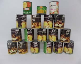Toy Food Cans lot of 18
