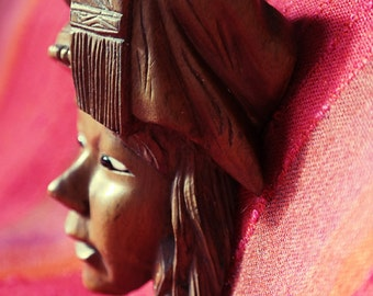 Vintage Carved wooden mask