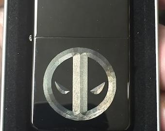 DEADPOOL logo LIGHTER with Gift Box black ice oil lighter new