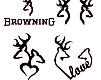 Collection of Deer Head Logo SVG File