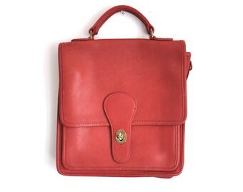 Vintage Coach Bag in Red