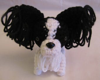 PAPILLON - Crochet Amigurumi - Crochet Dog, Crochet Puppy