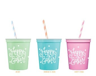 Easter Kids Table Cups (reusable) - Qty 6