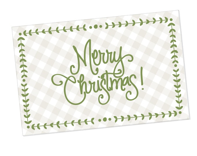 Paper Placemats - Merry Christmas with Gingham