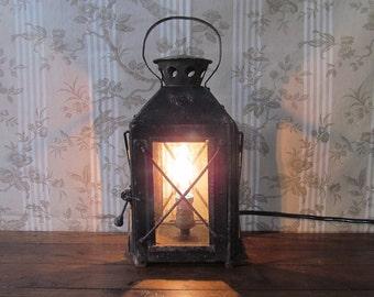 French Hanging Lantern - French Railway Lantern / Carriage Lantern - Electric Lantern - Electric Railway Lantern - French Electric Lamp