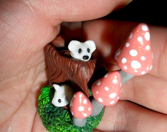 Fairy Garden Item- Mice Home- Terrarium Decoration